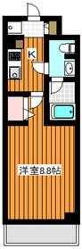 地下鉄赤塚駅 徒歩3分3階Fの間取り画像