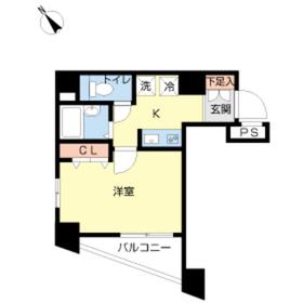 スカイコート大塚第25階Fの間取り画像
