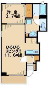 インプレス1階Fの間取り画像