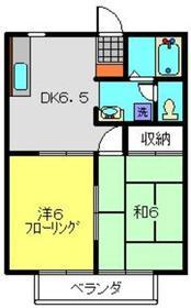 サンクレスト鶴ヶ峰2階Fの間取り画像