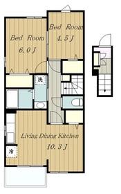 VILLETTA2階Fの間取り画像