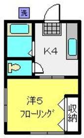 シティハイム片倉コーポ2階Fの間取り画像