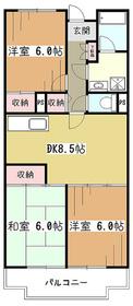 エーデルハイム2号棟2階Fの間取り画像