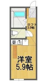 ラボーナ妙蓮寺1階Fの間取り画像