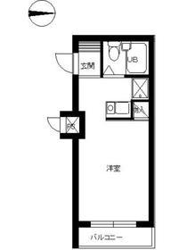 スカイコート新宿落合第41階Fの間取り画像