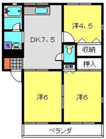 グリーンヒルA2階Fの間取り画像