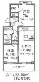 フォレストパーク田向1階Fの間取り画像