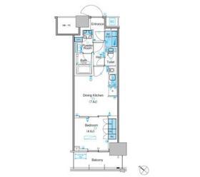 パークアクシス豊洲キャナル4階Fの間取り画像