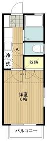 鶴間駅 徒歩4分2階Fの間取り画像