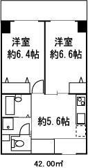 ドミール菊川3階Fの間取り画像