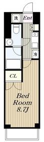 KDXレジデンス湘南台8階Fの間取り画像