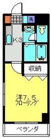 元住吉駅 徒歩25分2階Fの間取り画像