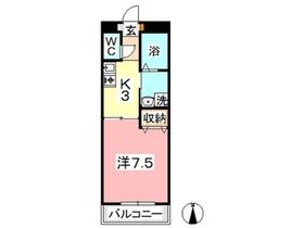 エクセーヌメゾン1階Fの間取り画像