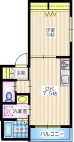 メルベーユコート3階Fの間取り画像