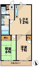 リッジモントゥ鶴牧6階Fの間取り画像