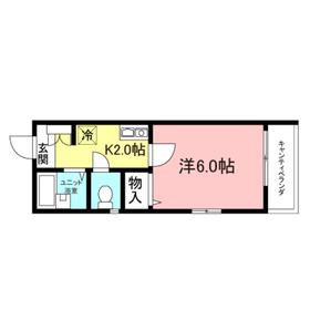 パークサイド駒沢2階Fの間取り画像