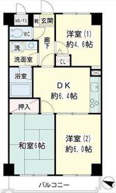 ライオンズマンション上永谷第25階Fの間取り画像