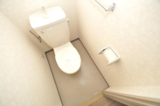 スリーゼ菱屋西 白くてピカピカのトイレですね。癒しの空間になりそう。