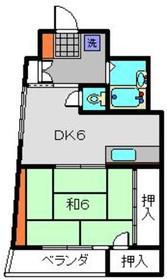 メゾンウィスタリアⅡ3階Fの間取り画像