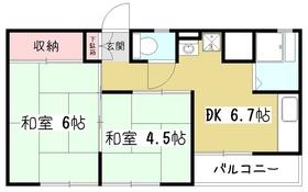 シャトーミノル4階Fの間取り画像