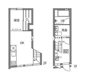 神楽坂薫木荘2階Fの間取り画像