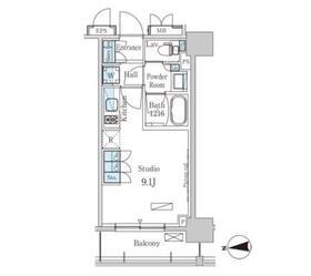 パークアクシス上野・稲荷町11階Fの間取り画像