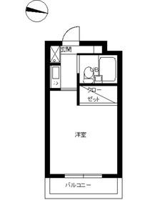 スカイコート新宿落合第52階Fの間取り画像