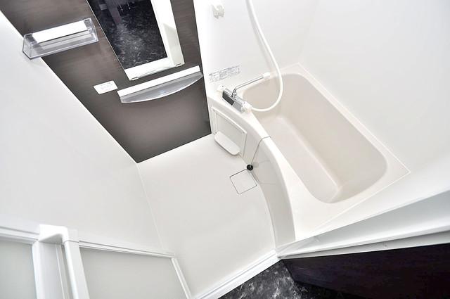 Realize長瀬 ちょうどいいサイズのお風呂です。お掃除も楽にできますよ。