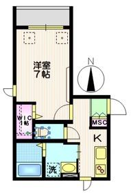 NewSafole武蔵新城3階Fの間取り画像