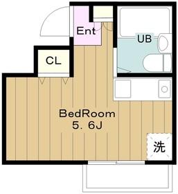 トラスティ永山1階Fの間取り画像