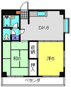 シャンス寺谷4階Fの間取り画像