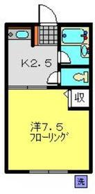 鶴見駅 徒歩15分2階Fの間取り画像
