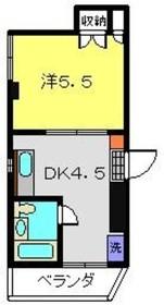 ヴィラリバーサイド1階Fの間取り画像