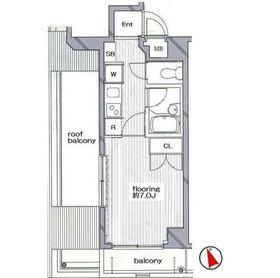 グランヴァン阿佐ヶ谷II5階Fの間取り画像