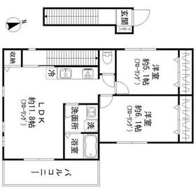 布田駅 徒歩7分3階Fの間取り画像