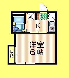 メゾンオギシマ1階Fの間取り画像