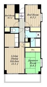 リュミエール(奈良5)4階Fの間取り画像