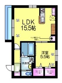 仮称 江戸川1丁目メゾン3階Fの間取り画像