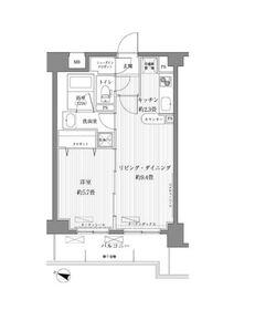 サニーリーブ北新横浜5階Fの間取り画像
