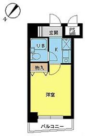 スカイコート世田谷用賀第23階Fの間取り画像