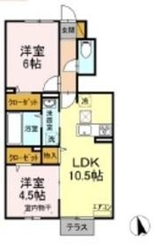 仮称)D-room大和田1階Fの間取り画像