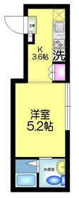 EDIT 吾妻橋3階Fの間取り画像