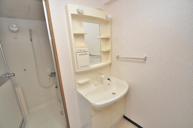 カーサヴェルデ 親子並んで一緒に手洗いができそうな素敵な空間です。