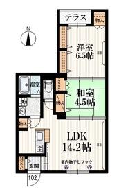 阿佐ヶ谷駅 バス25分「下石神井坂下」徒歩3分1階Fの間取り画像