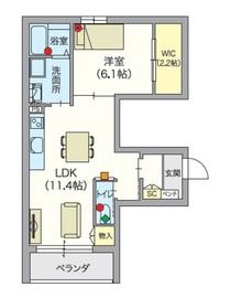 ヘーベルVillage 椎名町 山手通り1階Fの間取り画像