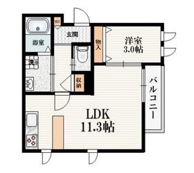 ラ・フォルテ2階Fの間取り画像