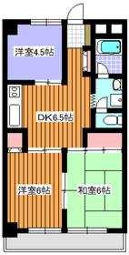 地下鉄赤塚駅 徒歩11分3階Fの間取り画像