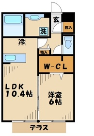 愛甲石田駅 徒歩7分2階Fの間取り画像