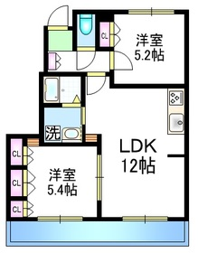 Court Villa 上ノ原Ⅲ ペット共生1階Fの間取り画像
