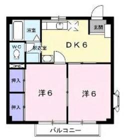 カームヒルズK2階Fの間取り画像